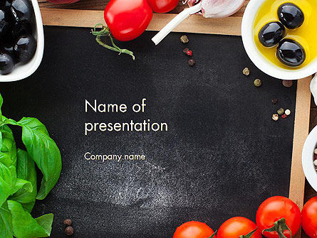 Fresh Ingredients PowerPoint Template