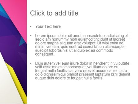 Abstract Colorful Mixed Sharp Layers PowerPoint Template, Slide 3, 13514, Abstract/Textures — PoweredTemplate.com