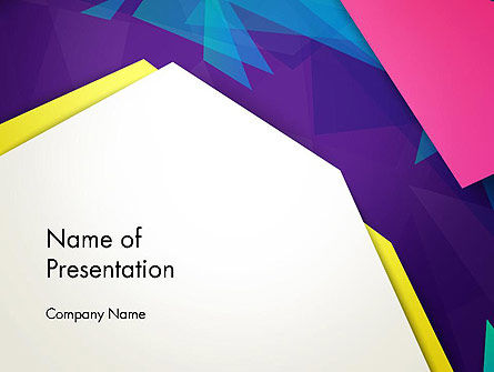 Abstract Colorful Mixed Sharp Layers PowerPoint Template, 13514, Abstract/Textures — PoweredTemplate.com
