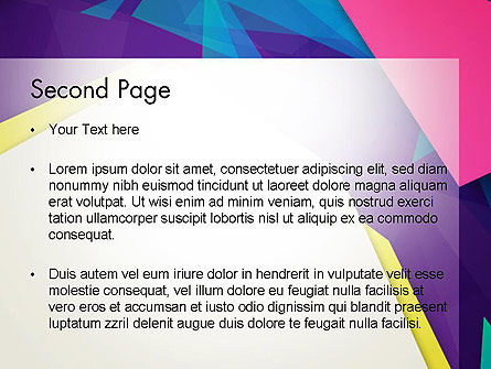Abstract Colorful Mixed Sharp Layers PowerPoint Template, Slide 2, 13514, Abstract/Textures — PoweredTemplate.com