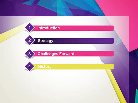 Abstract Colorful Mixed Sharp Layers PowerPoint Template Slide 3
