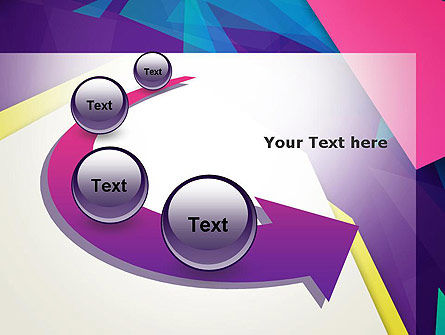 Abstract Colorful Mixed Sharp Layers PowerPoint Template Slide 6