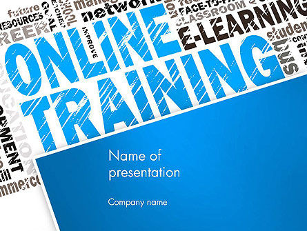 Online Training Word Cloud PowerPoint Template