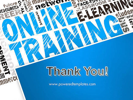 Online Training Word Cloud PowerPoint Template Slide 20