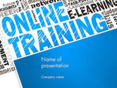 Education & Training: Online Training Word Cloud PowerPoint Template #13515