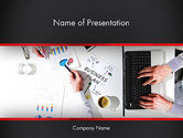 Business: Business Meeting in Top View PowerPoint Template #13516