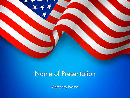 American Patriotism PowerPoint Template, 13518, America — PoweredTemplate.com