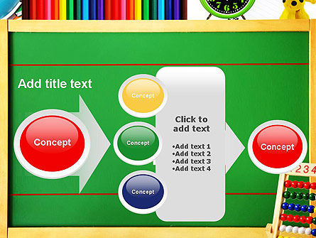 School Supplies Border PowerPoint Template Slide 17