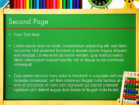 School Supplies Border PowerPoint Template Slide 2