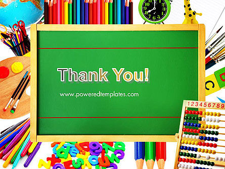 School Supplies Border PowerPoint Template Slide 20