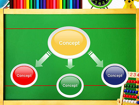 School Supplies Border PowerPoint Template Slide 4
