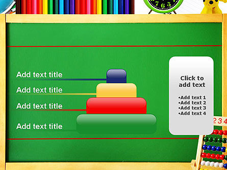 School Supplies Border PowerPoint Template Slide 8