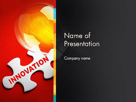 Innovation Puzzle Piece PowerPoint Template, 13521, Business Concepts — PoweredTemplate.com