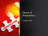 Business Concepts: Innovation Puzzle Piece PowerPoint Template #13521