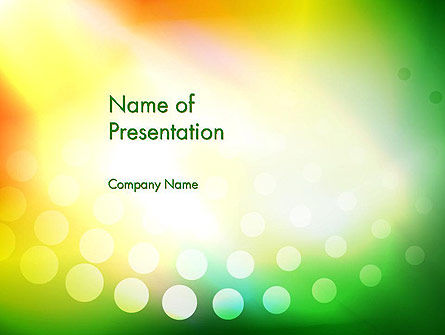 Abstract/Textures: Green Orange Glow Abstract PowerPoint Template #13524