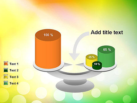 Green Orange Glow Abstract PowerPoint Template Slide 10