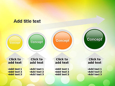 Green Orange Glow Abstract PowerPoint Template Slide 13