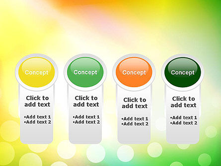 Green Orange Glow Abstract PowerPoint Template Slide 5