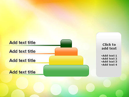Green Orange Glow Abstract PowerPoint Template Slide 8