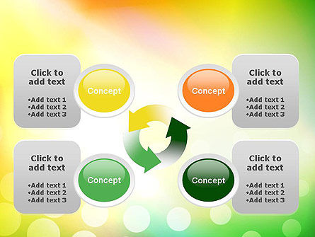 Green Orange Glow Abstract PowerPoint Template Slide 9