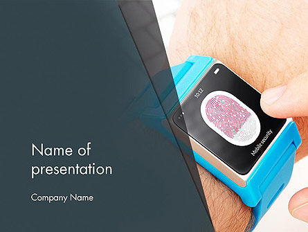 Smartwatch PowerPoint Template, 13526, Technology and Science — PoweredTemplate.com
