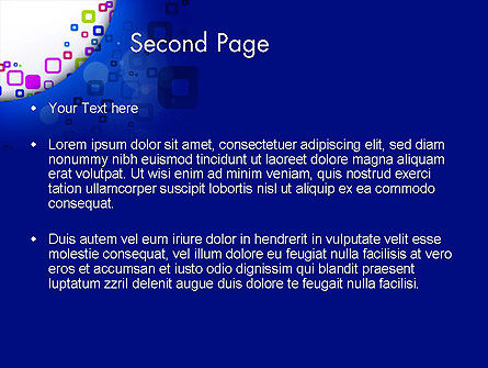 Abstract Rounded Squares PowerPoint Template Slide 2