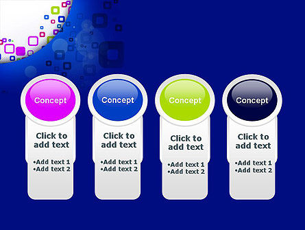 Abstract Rounded Squares PowerPoint Template Slide 5