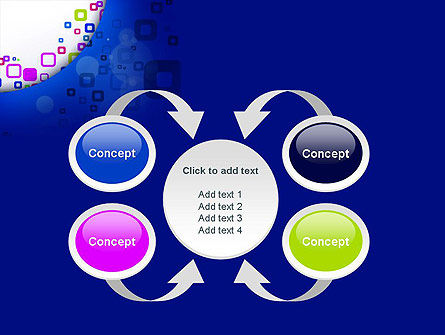 Abstract Rounded Squares PowerPoint Template Slide 6