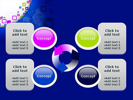 Abstract Rounded Squares PowerPoint Template Slide 9