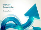 Business Concepts: Wavy Arrows PowerPoint Template #13530