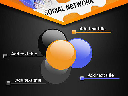 Social Network Puzzle Piece PowerPoint Template Slide 10
