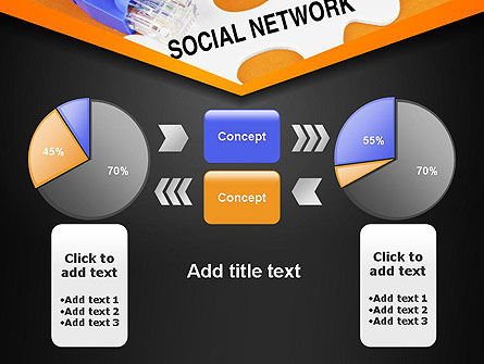 Social Network Puzzle Piece PowerPoint Template Slide 11