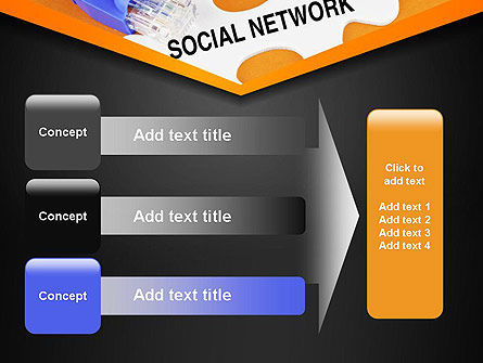 Social Network Puzzle Piece PowerPoint Template Slide 12