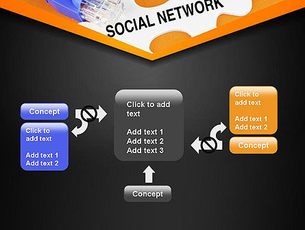 Social Network Puzzle Piece PowerPoint Template Slide 13