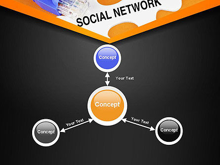 Social Network Puzzle Piece PowerPoint Template Slide 14