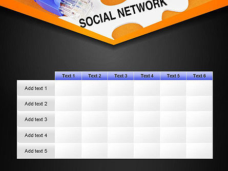 Social Network Puzzle Piece PowerPoint Template Slide 15