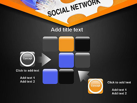 Social Network Puzzle Piece PowerPoint Template Slide 16