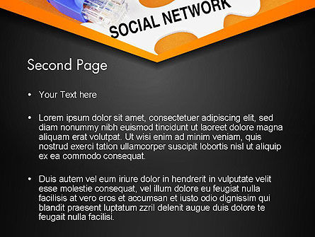 Social Network Puzzle Piece PowerPoint Template Slide 2