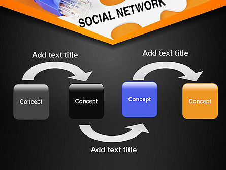 Social Network Puzzle Piece PowerPoint Template Slide 4