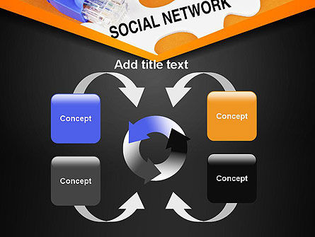 Social Network Puzzle Piece PowerPoint Template Slide 6