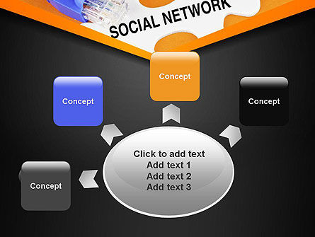 Social Network Puzzle Piece PowerPoint Template Slide 7