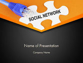Careers/Industry: Social Network Puzzle Piece PowerPoint Template #13531