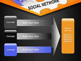 Social Network Puzzle Piece PowerPoint Template#12