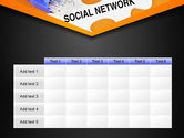 Social Network Puzzle Piece PowerPoint Template#15