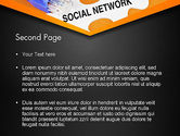 Social Network Puzzle Piece PowerPoint Template#2