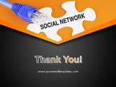 Social Network Puzzle Piece PowerPoint Template#20