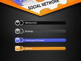 Social Network Puzzle Piece PowerPoint Template#3