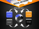 Social Network Puzzle Piece PowerPoint Template#6