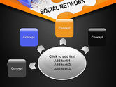 Social Network Puzzle Piece PowerPoint Template#7
