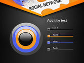 Social Network Puzzle Piece PowerPoint Template#9